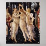 Primavera, Three Graces, by Sandro Botticelli Poster