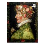 Primavera, una serie que representa las cuatro est tarjeta postal