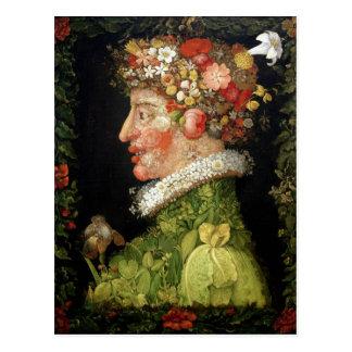 Primavera, una serie que representa las cuatro postal