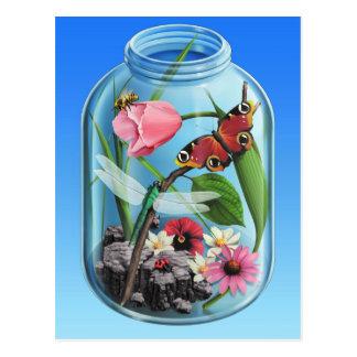 Primavera/verano en un tarro tarjeta postal