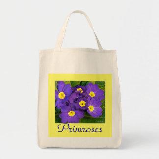 Primaveras azules púrpuras bolsas