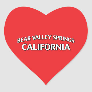 Primaveras California del valle del oso Pegatina Corazón Personalizadas