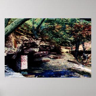 Primaveras de BlackHawk del parque de Burlington I Póster