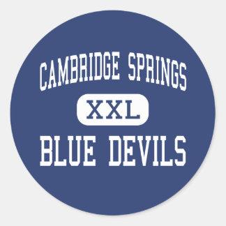 Primaveras de Cambridge - diablos azules Pegatina Redonda
