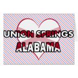 Primaveras de la unión, Alabama Felicitaciones