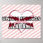 Primaveras de la unión, Alabama Posters