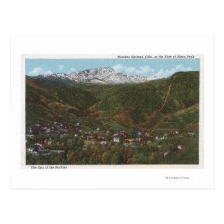 Primaveras de Manitou, CO - el balneario de los Tarjeta Postal