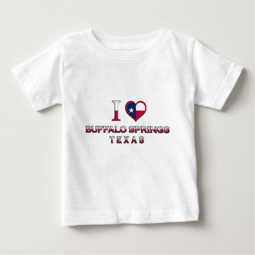 Primaveras del búfalo, Tejas Playera Para Bebé
