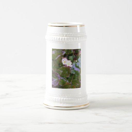 Primaveras en la lluvia jarra de cerveza