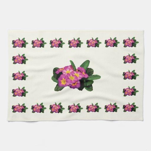 Primaveras magentas ligeras toallas de cocina