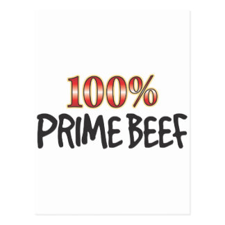 Prime Beef 100 Percent Postcard