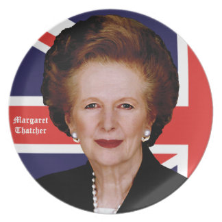 Prime Minister Margaret Thatcher - The Iron Lady Dinner Plate