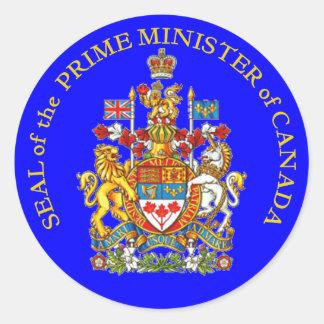 Prime Minister of Canada Classic Round Sticker
