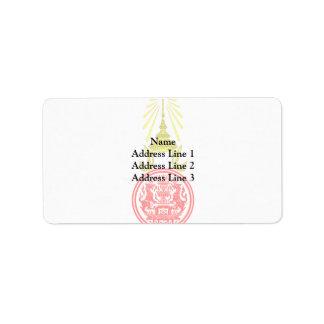Prime Minister Of Thailand, Thailand Address Label