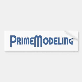 Prime Modeling Logo Car Bumper Sticker