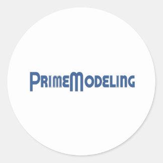 Prime Modeling Logo Classic Round Sticker