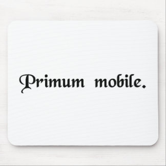 Prime mover. mouse pad