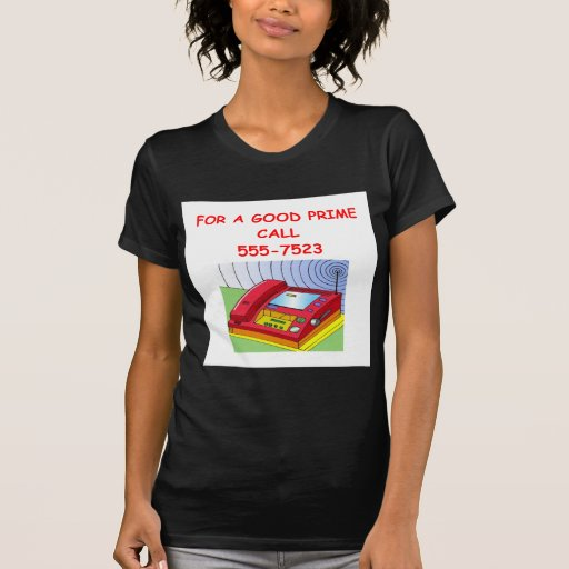 prime number t-shirts