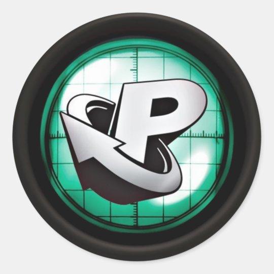 Prime Oscillator Classic Round Sticker