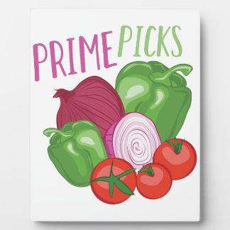 Prime Picks Plaque