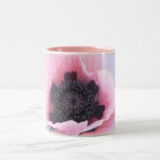 Prime Pink Poppy Two-Tone Coffee Mug