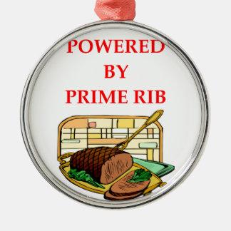 prime rib metal ornament