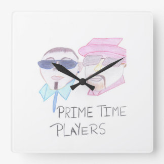 Prime Time Players Square Wall Clock