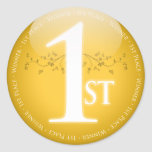 Primer 1r) premio del lugar del oro ( pegatinas