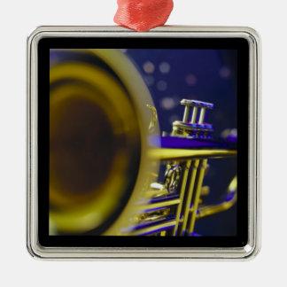 Primer 3 de la trompeta ornamentos de navidad