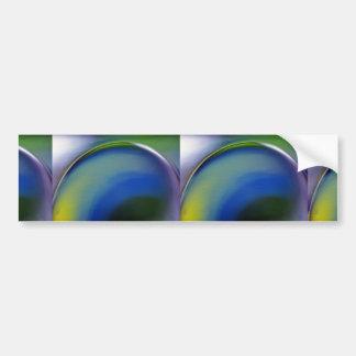 Primer abstracto de la cristalería pegatina de parachoque