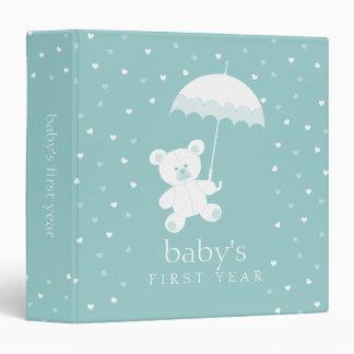 Primer álbum del año del bebé - carpeta del oso de