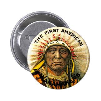 Primer americano - botón pin redondo de 2 pulgadas