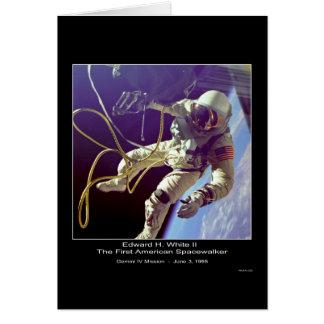 Primer americano Spacewa de Edward H. White II-NAS Tarjeta De Felicitación