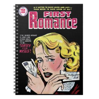 Primer amor romántico que se rompe para arriba libreta espiral