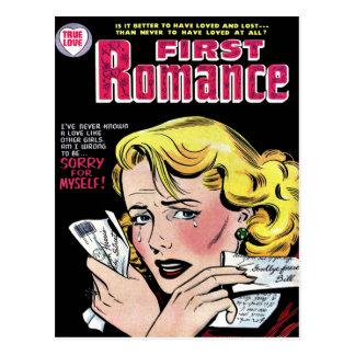 Primer amor romántico que se rompe para arriba tarjeta postal