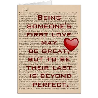 Primer amor - tarjeta de felicitación