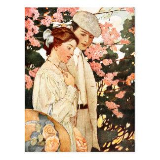 Primer amor y simple encantamiento tarjetas postales