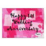 Primer aniversario de boda felicitaciones