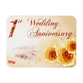 Primer aniversario de boda iman de vinilo