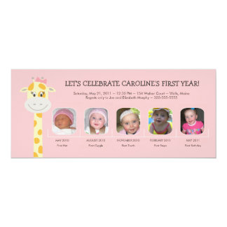Primer año del cumpleaños de la niña