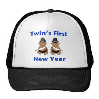 Primer Año Nuevo AA (ninguna fecha) de los gemelos Gorras De Camionero