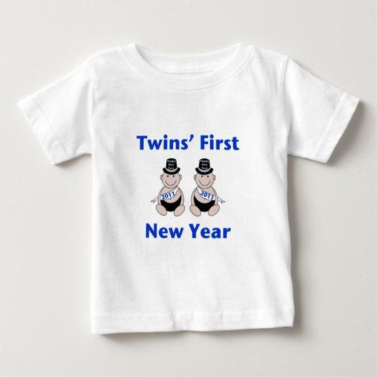 Primer Año Nuevo de los gemelos Playera De Bebé