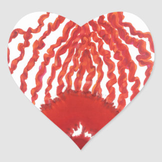 Primer arte curativo #2 de Chakra Pegatina En Forma De Corazón