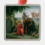 Primer aterrizaje de Cristóbal Colón adentro Ornamentos Para Reyes Magos