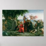 Primer aterrizaje de Cristóbal Colón adentro Poster