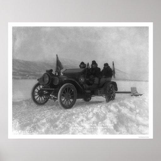 Primer auto de Dawson a Whitehorse, Alaska 1912 Posters