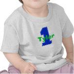 Primer azul de la camisa del cumpleaños de la fals
