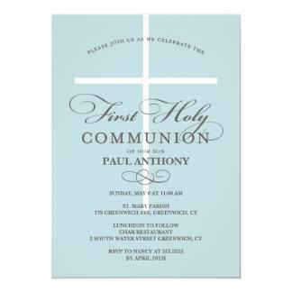 Primer azul de la invitación de la comunión santa