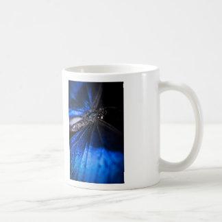 Primer azul de la mariposa de Morpho Taza