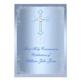 Primer azul de la plata de la comunión santa del
